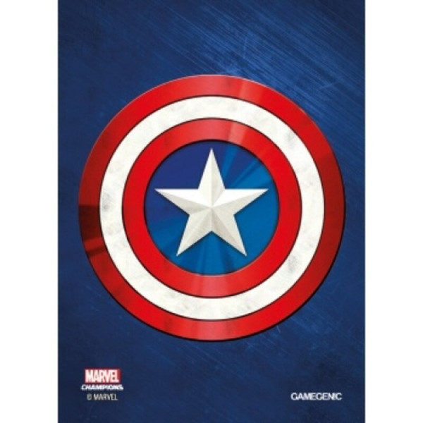 Gamegenic - Marvel Champions Art Sleeves - Captain America (50+1 Sleeves)