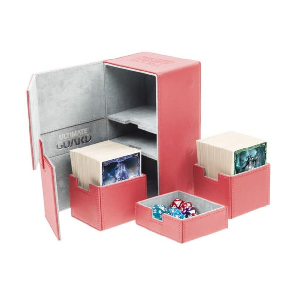 Twin Flip´n´Tray Deck Case 200+ Standard Size XenoSkin™ Red