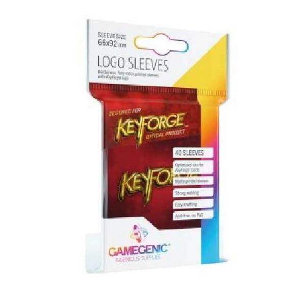 Gamegenic KeyForge Logo Sleeves - Red (40 Sleeves)