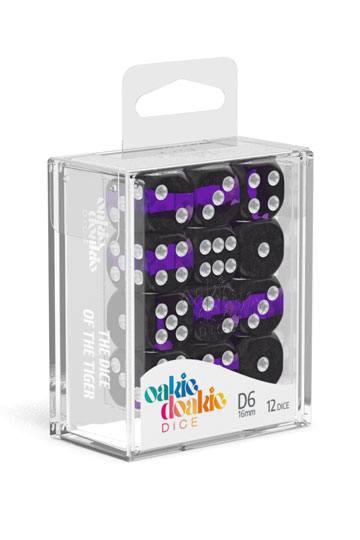 Oakie Doakie Dice D6 Dice 16 mm Enclave - Amethyst (12)