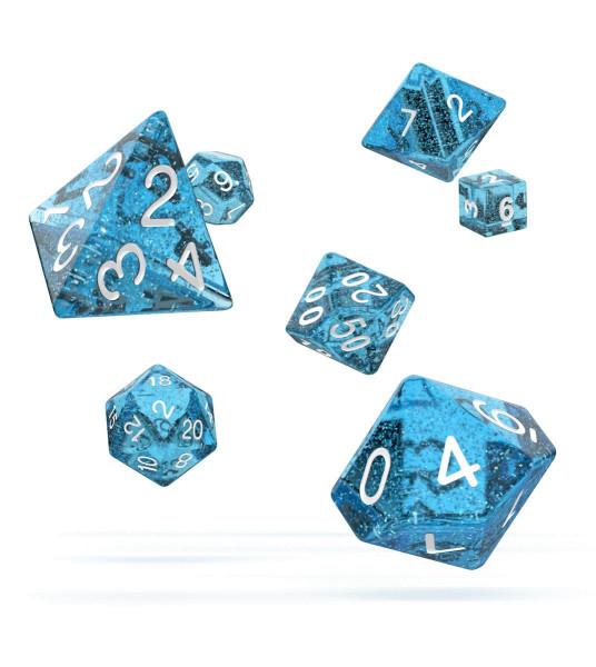 Oakie Doakie Dice RPG Set Speckled - Light Blue (7)