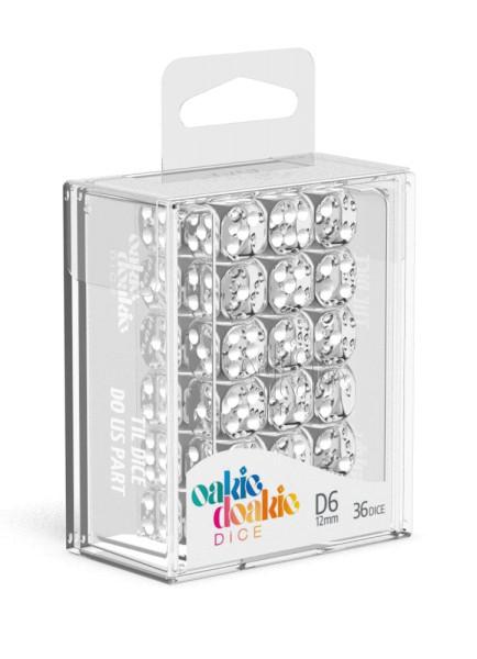 Oakie Doakie Dice D6 Dice 12 mm Translucent - Clear (36)