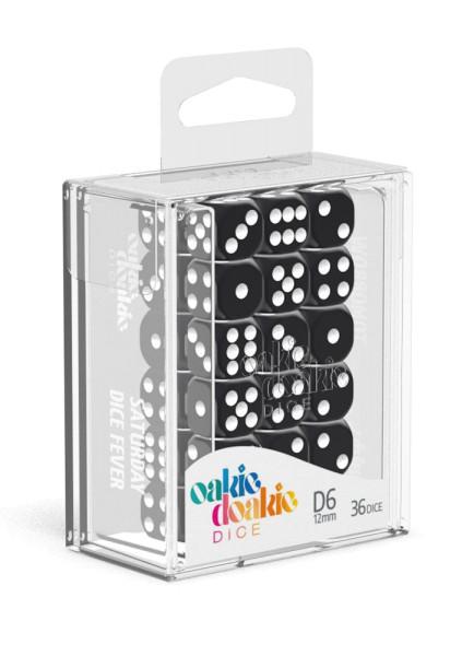 Oakie Doakie Dice D6 Dice 12 mm Solid - Black (36)