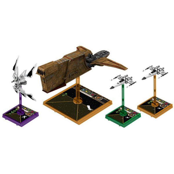 X-Wing - Bases and Pegs Green
