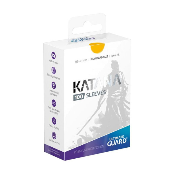 Katana Sleeves Standard Size Yellow (100)