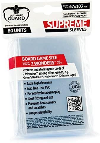 Supreme Sleeves für Brettspielkarten 7 Wonders™ (80)
