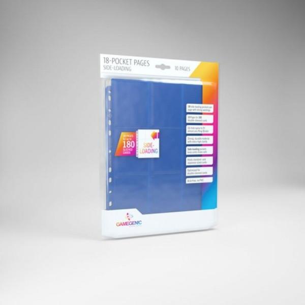 Gamegenic - Sideloading 18-Pocket Pages 10 pcs pack Blue