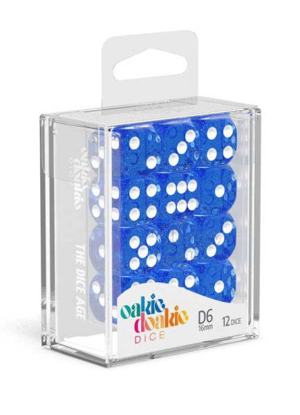 Oakie Doakie Dice D6 Dice 16 mm Speckled - Blue (12)
