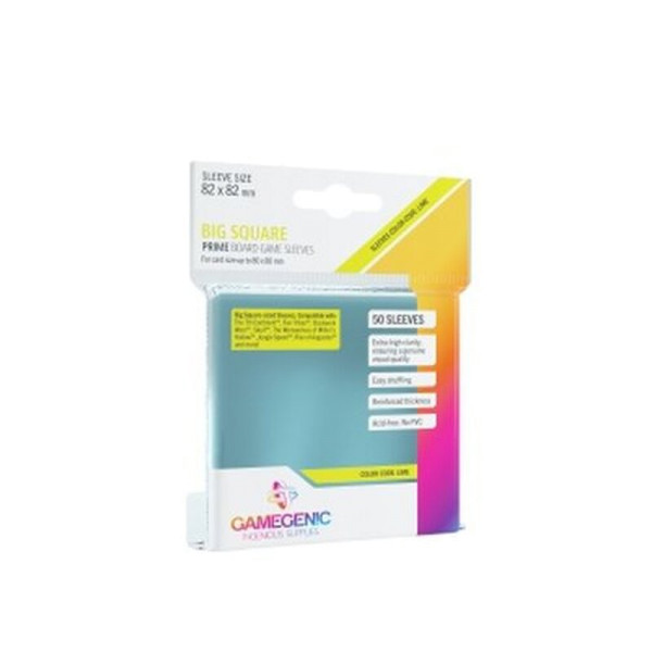 Gamegenic - PRIME Big Square-Sized Sleeves 82 x 82 mm - Clear (50 Sleeves)