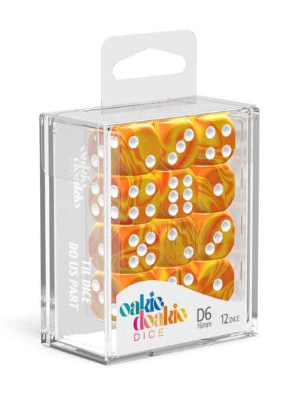 Oakie Doakie Dice D6 Dice 16 mm Gemidice - Sunstone (12)