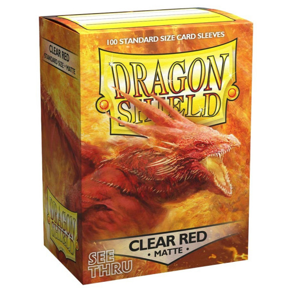 Dragon Shield: Matte Clear Red (100)
