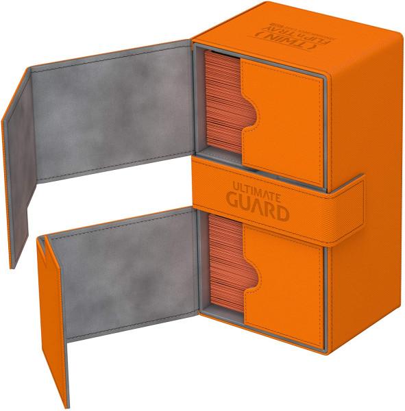 Twin Flip´n´Tray Deck Case 200+ Standard Size XenoSkin™ Orange