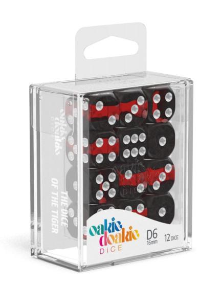 Oakie Doakie Dice D6 Dice 16 mm Enclave - Ruby (12)