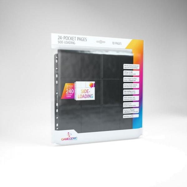 Gamegenic - 24-Pocket Sideloading Pages 10 pcs pack Black