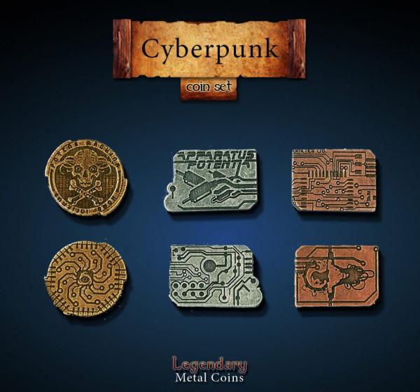Cyberpunk Coin Set (24 Stück)