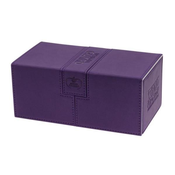 Twin Flip´n´Tray Deck Case 200+ Standard Size XenoSkin™ Purple