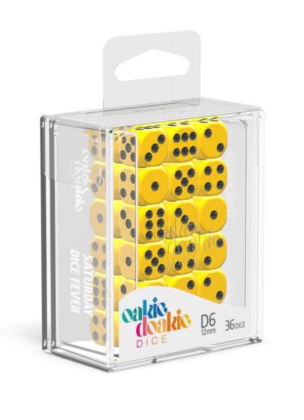 Oakie Doakie Dice D6 Dice 12 mm Solid - Yellow (36)