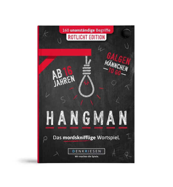 "HANGMAN Rotlicht Edition ""Galgenmännchen TO GO"""