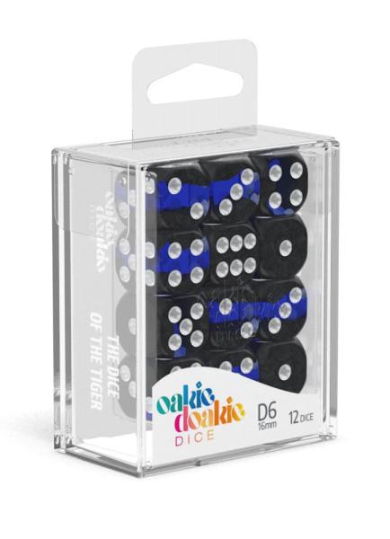 Oakie Doakie Dice D6 Dice 16 mm Enclave - Sapphire (12)