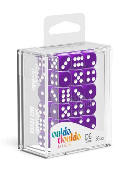 Oakie Doakie Dice D6 Dice 12 mm Solid - Purple (36)