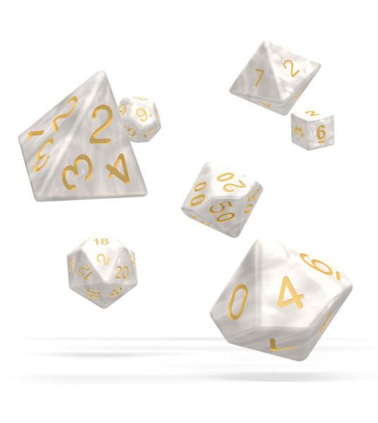 Oakie Doakie Dice RPG Set Marble - White (7)