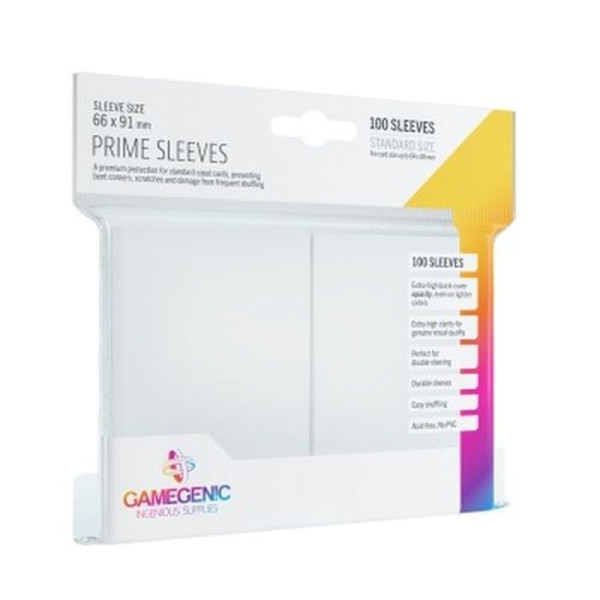 Gamegenic - Prime Sleeves White (100 Sleeves)