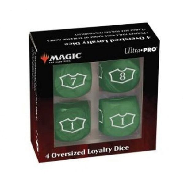 UP - Deluxe 22MM Forest Loyalty Dice Set with 7-12 for Magic: The Gathering