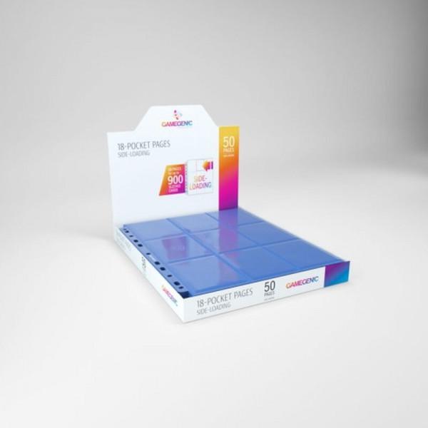 Gamegenic - Sideloading 18-Pocket Pages DISPLAY Blue