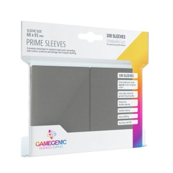 Gamegenic - Prime Sleeves Gray (100 Sleeves)