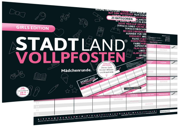 STADT LAND VOLLPFOSTEN GIRLS EDITION (DIN-A4-Format)