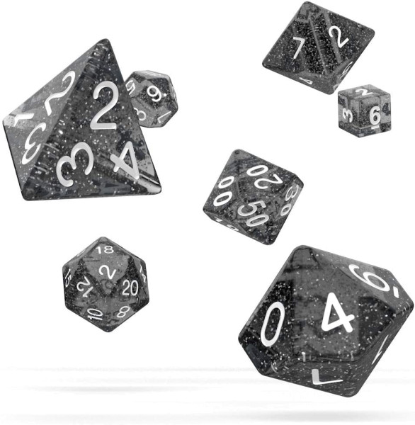 Oakie Doakie Dice RPG Set Speckled - Black (7)