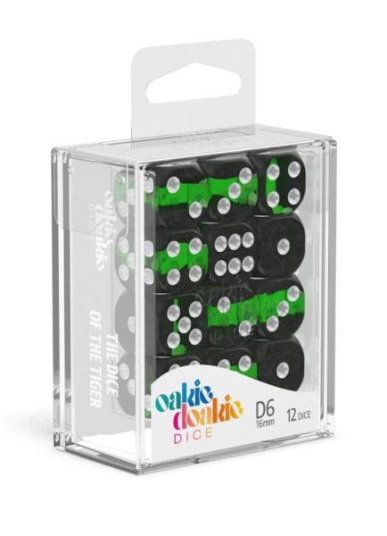 Oakie Doakie Dice D6 Dice 16 mm Enclave - Emerald (12)