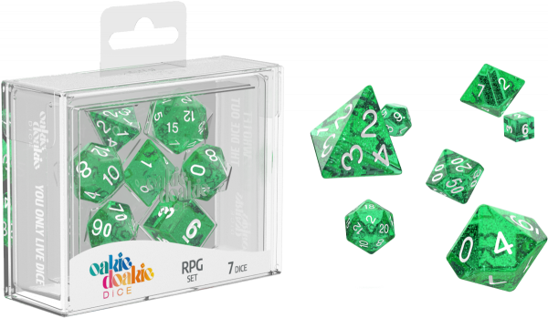 Oakie Doakie Dice RPG Set Speckled - Green (7)