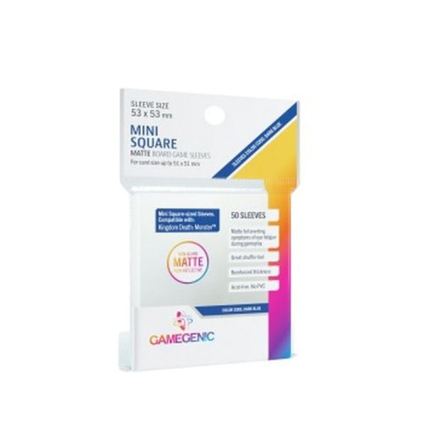 Gamegenic - MATTE Mini Square-Sized Sleeves 53 x 53 mm - Clear (50 Sleeves)