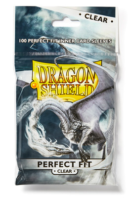 Dragon Shield: Perfect Fit Inner Sleeves Clear/Clear (100)