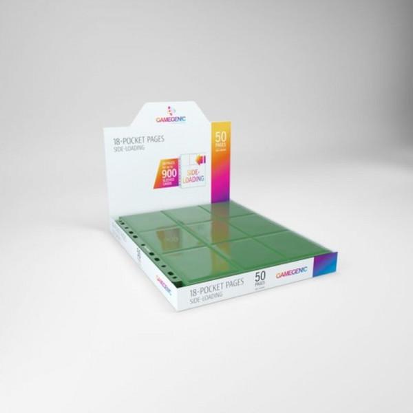 Gamegenic - Sideloading 18-Pocket Pages DISPLAY Green