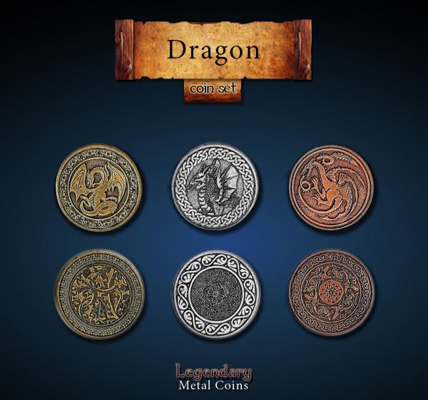 Dragon Coin Set (24 Stück)