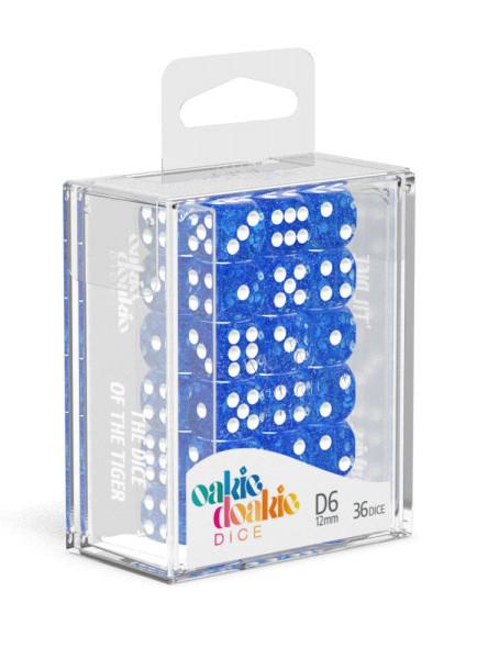 Oakie Doakie Dice D6 Dice 12 mm Speckled - Blue (36)