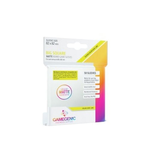 Gamegenic - MATTE Big Square-Sized Sleeves 82 x 82 mm - Clear (50 Sleeves)