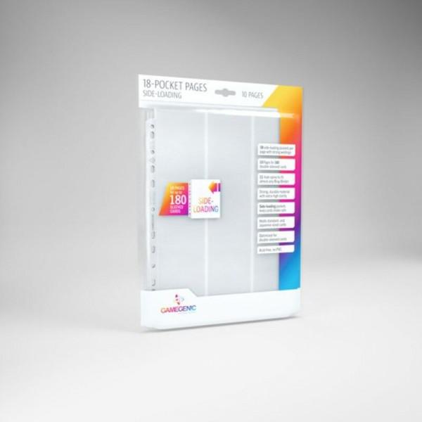 Gamegenic - Sideloading 18-Pocket Pages 10 pcs pack White