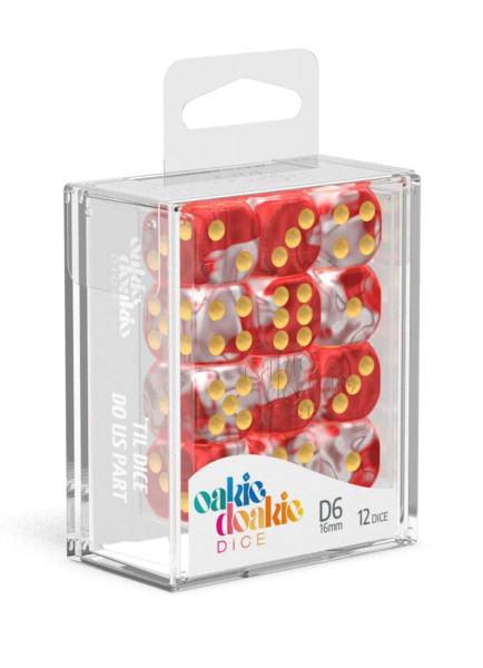 Oakie Doakie Dice D6 Dice 16 mm Gemidice - Red Sky (12)