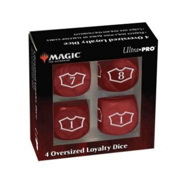 UP - Deluxe 22MM Mountain Loyalty Dice Set with 7-12 for Magic: The Gathering