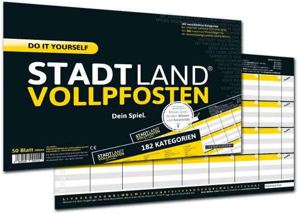 STADT LAND VOLLPFOSTEN DO IT YOURSELF-EDITION (DIN-A4-Format)