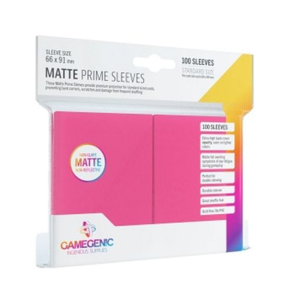 Gamegenic - Matte Prime Sleeves Pink (100 Sleeves)