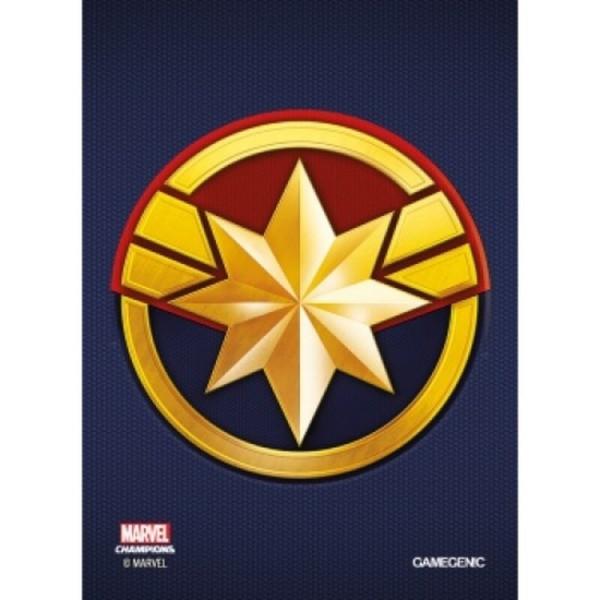 Gamegenic - Marvel Champions Art Sleeves - Captain Marvel (50+1 Sleeves)