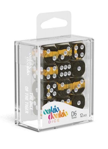 Oakie Doakie Dice D6 Dice 16 mm Enclave - Amber (12)