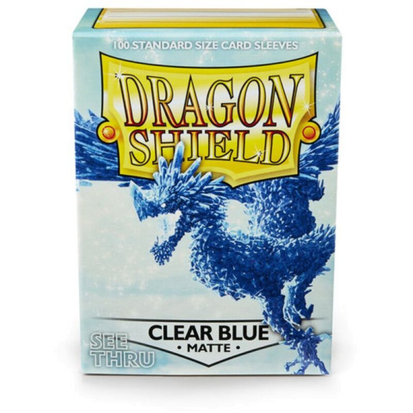 Dragon Shield: Matte Clear Blue (100)