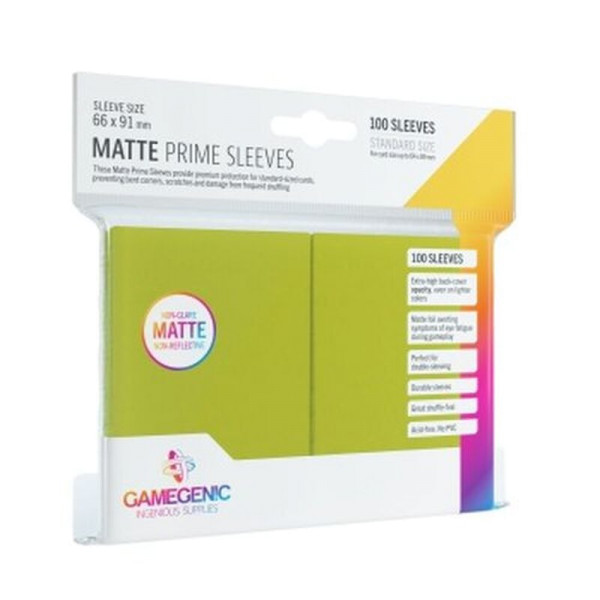 Gamegenic - Matte Prime Sleeves Lime (100 Sleeves)